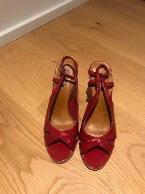 Limelight Plateauzool sandalen rood