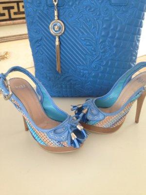 Vogue Platform High-Heeled Sandal multicolored