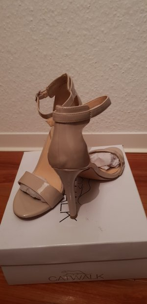 High Heel Sandale nude