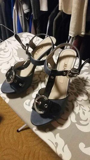 High Heel Sandalen in Jeanslook