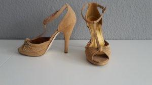 H&M High Heel Sandal gold-colored-camel