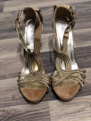 High Heel Sandal gold-colored-light brown