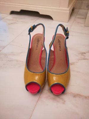 High Heel Sandal gold orange