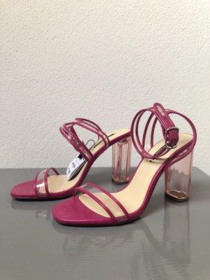High Heel Sandalette Rosa
