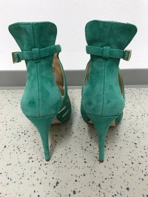 Zara High Heel Sandal turquoise leather