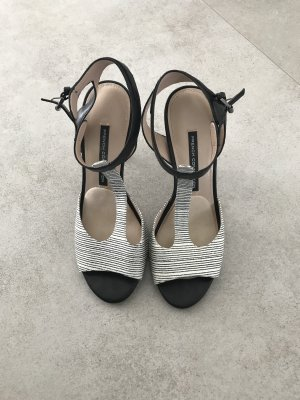 French Connection High Heel Sandal white-black