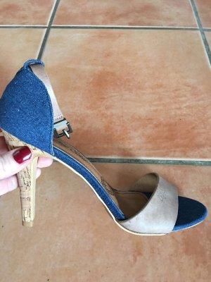 Big Star High Heel Sandal beige-blue
