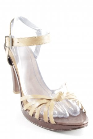 High Heel Sandaletten braun-beige Elegant