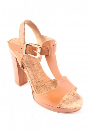 High Heel Sandaletten hellbraun-beige Party-Look