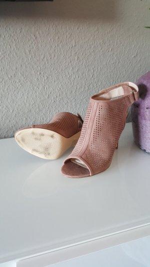 High Heel Sandaletten in Nude Rose