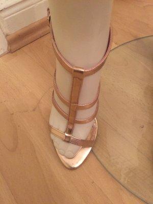 High Heel Sandaletten in rose gold
