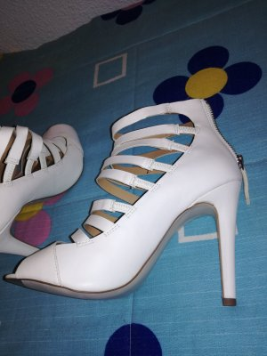 Stradivarius High Heel Sandal white imitation leather