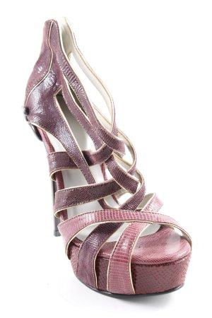 Sandaletto con tacco alto multicolore stile stravagante