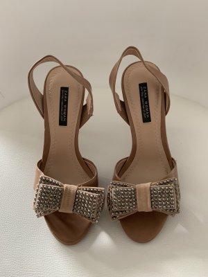 High-Heel Sandaletten, nude Gr. 36