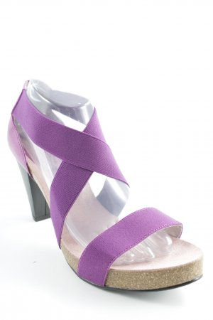High Heel Sandal purple casual look