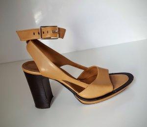 High Heel Sandaletten / Sandalen * cognac * Leder