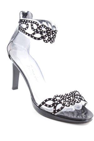 High Heel Sandaletten schwarz-silberfarben Elegant