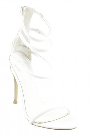 High Heel Sandal white party style