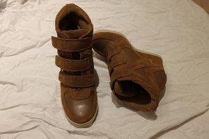 High Heel Sneaker aus Wildleder