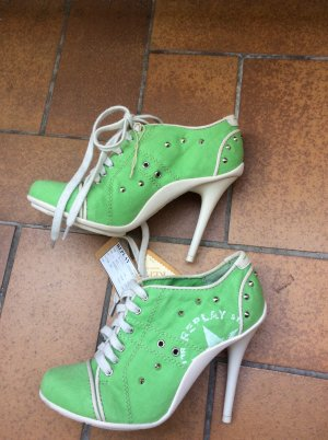 High Heel Sneaker Replay Froschgrün Gr 37 neu