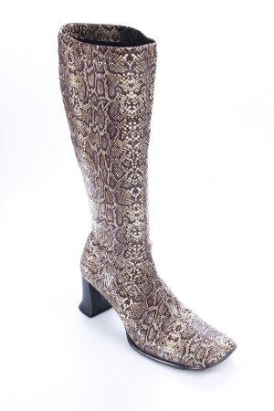 High Heel Stiefel Animalmuster extravaganter Stil
