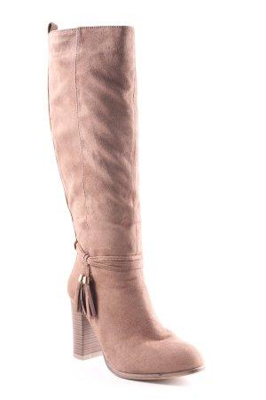 High Heel Stiefel hellbraun Casual-Look
