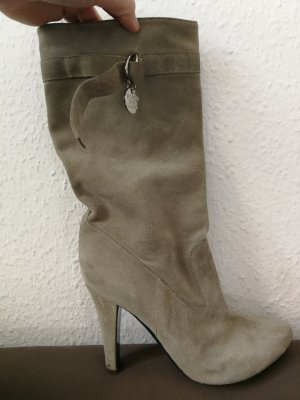 Patrizia Pepe Slouch Boots beige