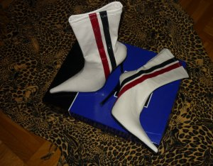 Booties multicolored leather