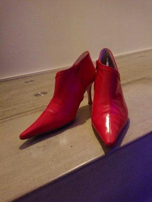 Zara Bottines à fermeture éclair rouge brique