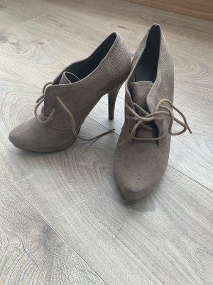 Graceland Escarpins à lacets gris brun