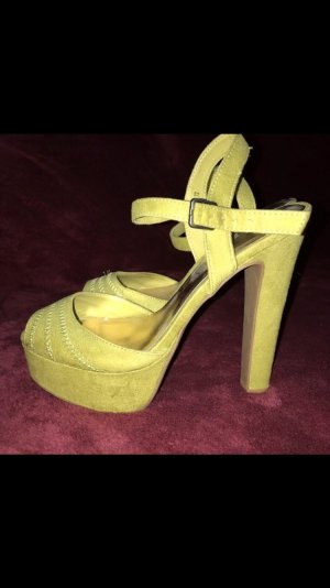 Atmosphere Strapped pumps lime yellow