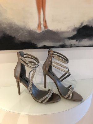 Orsay Strapped Sandals silver-colored