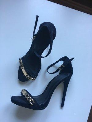High Heels 38 Asos schwarz goldene Schnalle neu