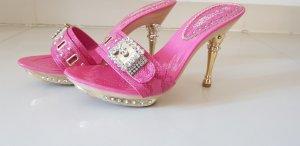 High-Heeled Sandals pink-pink