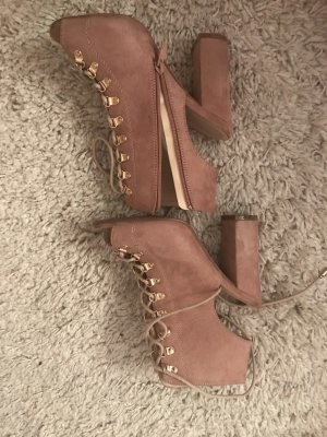 no name Lace-up Pumps rose-gold-coloured