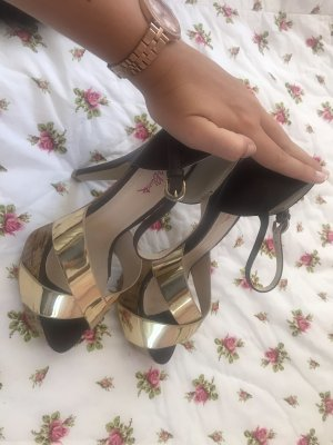 0039 Italy Platform Sandals gold-colored-light brown