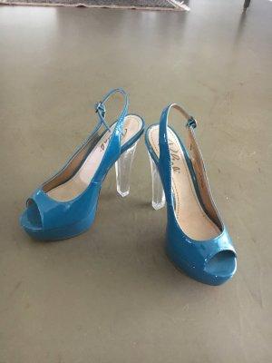 Blink High Heels neon blue