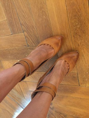 5th Avenue High Heels cognac-coloured-gold-colored