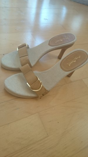 High Heel Sandal gold-colored-camel