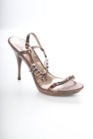 """High Heels """"Biond"""" bronzefarben"""