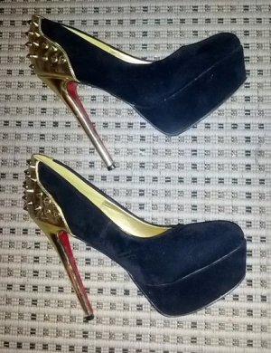 High Heels Black mit Gold