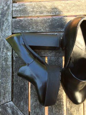 High Heels | Blogger | Hipster | 36 | schwarz | Block Absatz | Vintage