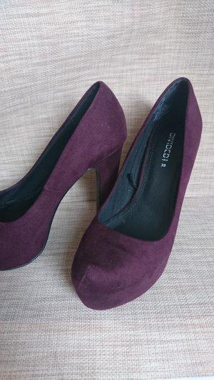 H&M High Heels blackberry-red