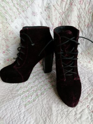 H&M Lace-up Booties multicolored