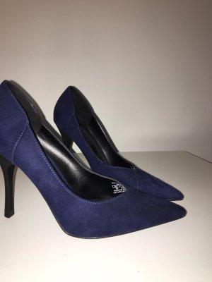 Bershka High Heel Sandal dark blue