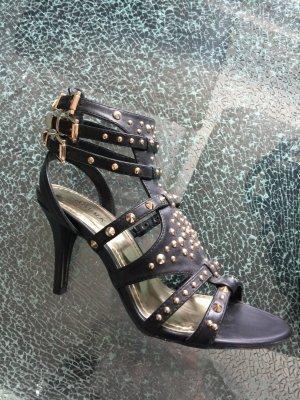 High Heels Catwalk schwarz mit Nieten 37 neu!!!