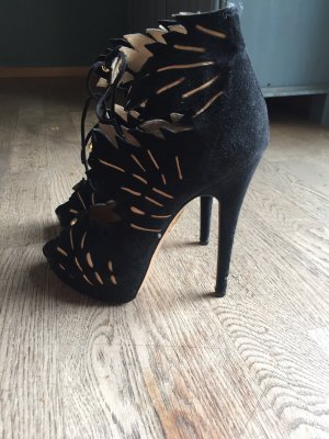 Charlotte Olympia High Heels black-gold-colored