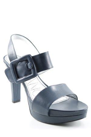High Heels dunkelblau extravaganter Stil