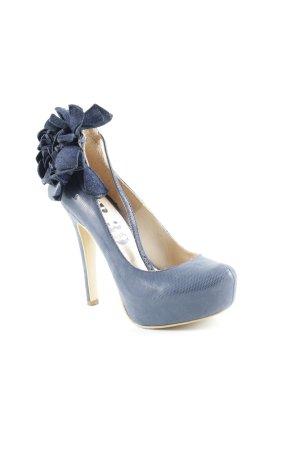 High Heels dunkelblau Party-Look