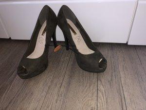 Platform High-Heeled Sandal khaki